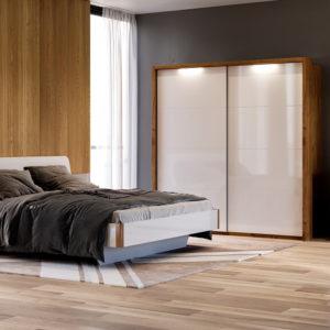 Спальня Nicky (Дуб Крафт – Глянець Білий)