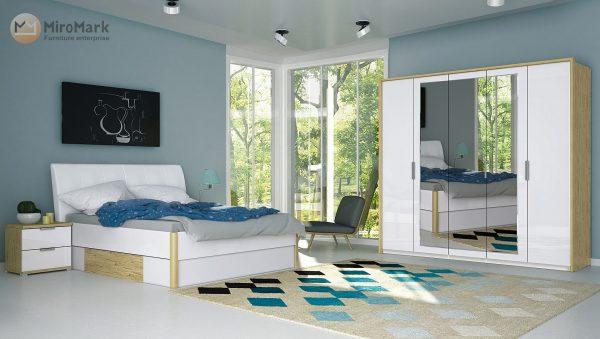 Спальня Florence (Глянець Білий – Дуб Сан Маріно)