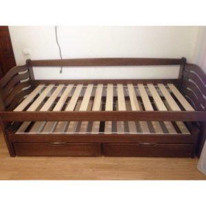 """Одноярусне ліжко з виїзн. с/м """"Мальвіна"""""""