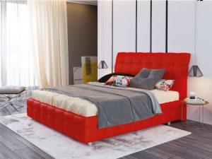 Ліжко двоспальне у м'якій оббивці Атланта