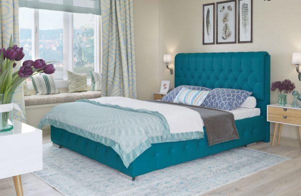 Ліжко двоспальне у м'якій оббивці Беатріс