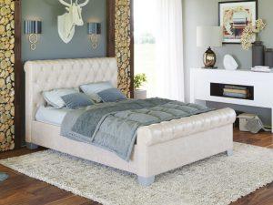 Ліжко двоспальне у м'якій оббивці Флоренція