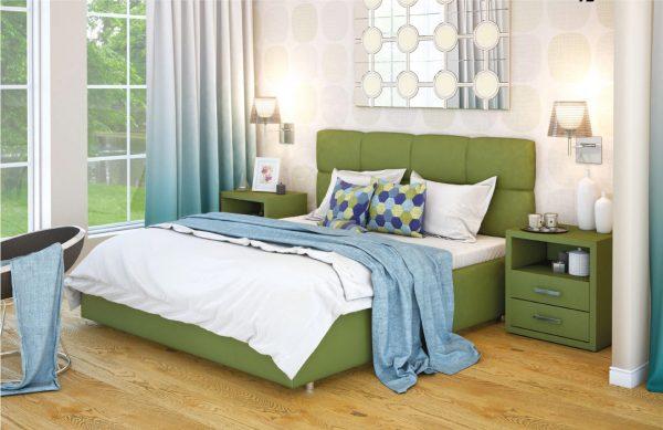 Ліжко двоспальне у м'якій оббивці Остін