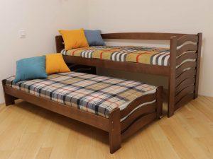 """Односпальне ліжко з висувним спальним місцем """"Мальва"""""""
