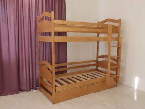 """Двох'ярусне ліжко """"Вінні Пух"""" з підйомним механізмом"""