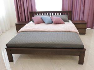 """Двоспальне ліжко """"Жасмин"""" з низьким узголів'ям"""
