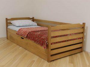 """Односпальне дитяче ліжко """"Котигорошко"""" з підйомним механізмом"""