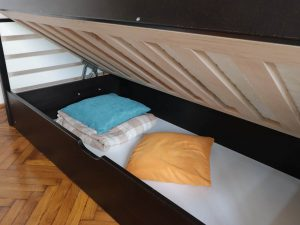 """Односпальне ліжко з підйомним механізмом """"Телесик"""""""