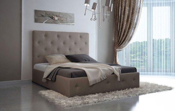 Ліжко двоспальне у м'якій оббивці Лафеста
