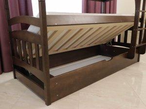 """Двоярусне ліжко """"Бембі"""" з підйомним механізмом"""
