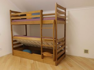 """Двоярусне ліжко """"Шрек"""" з підйомним механізмом"""