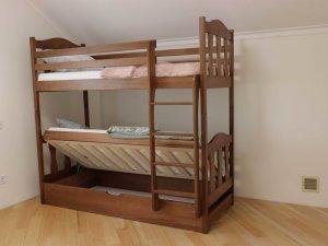"""Двоярусне ліжко """"Сонька"""" з підйомним механізмом"""