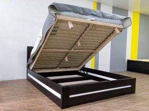 """Двоспальне ліжко з підйомним механізмом """"Лотос"""""""